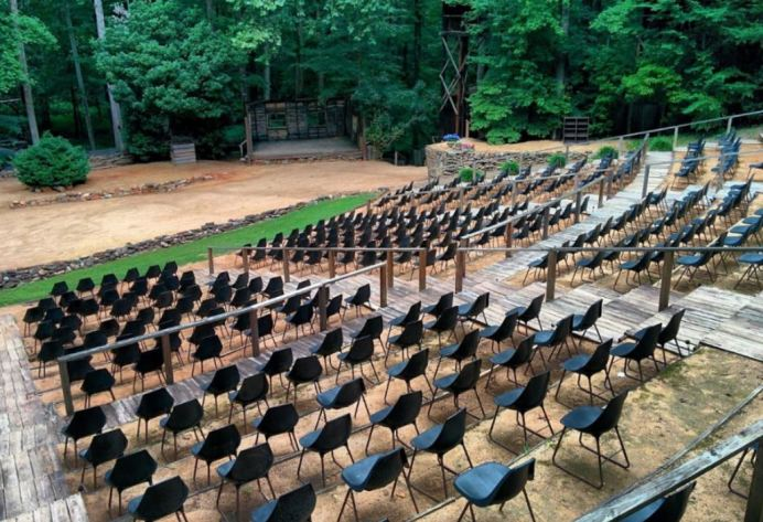 The amphitheater at Snow Camp Outdoor Theatre in Alamance County. Snow Camp Outdoor Theatre Photo