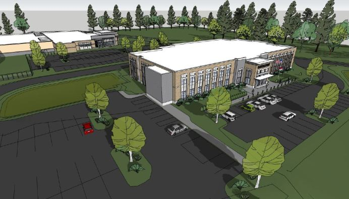 A sketch of the proposed Public Safety Center.