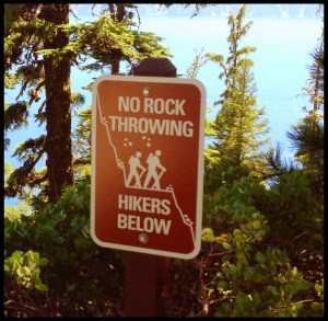 Crater Lake Sign