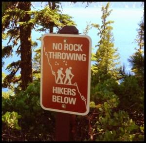 Crater Lake Sign