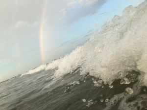 rainbow over the ocean