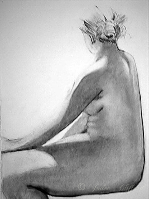 Life Drawing in College, graphite on paper