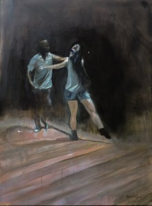 Connection: West Coast Swing at Grace Church, Point 30x40, Oil on Canvas (Jodee Clifford / 2017)