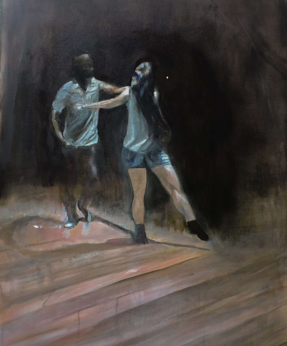 Connection: West Coast Swing at Grace Church, Point prep 30x40, Oil on Canvas (Jodee Clifford / 2017)