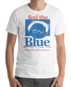 Feel The Blue T-Shirt Design for Wildwood Berry Farm