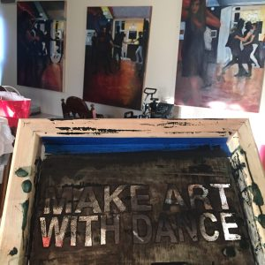 Make Art With Dance silk screen