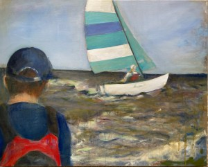 Dave Sailing, oil on canvas