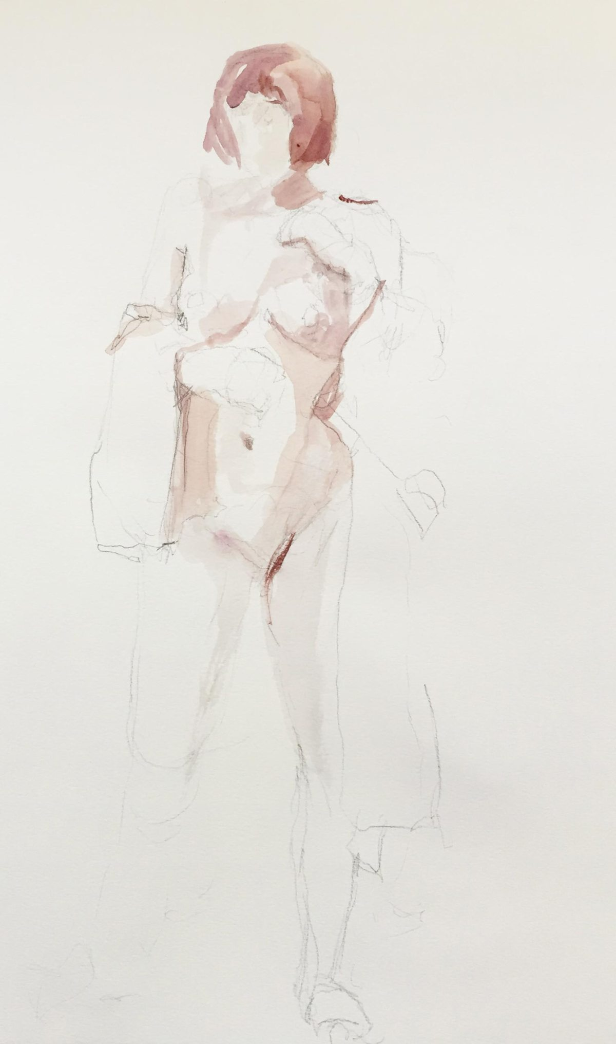 Life Drawing of female figure
