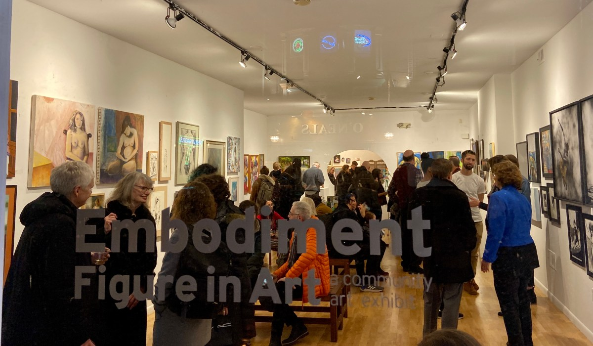 Embodiment: The Figure in Art reception at 3rd Street Gallery