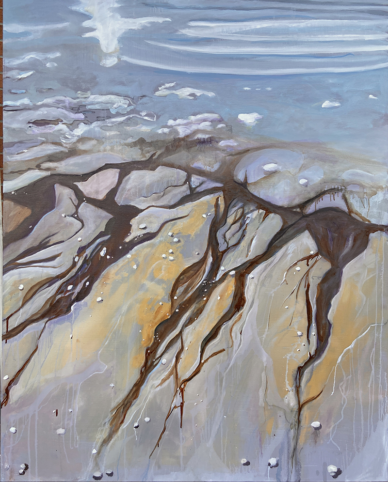 Saltwater Veins Oil on Canvas