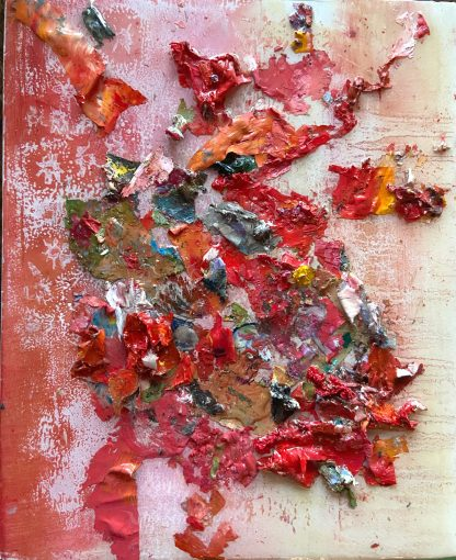 Heart Beat Paint forms. Abstract contemporary mixed media oil painting