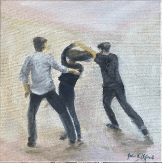 West coast swing dance painting
