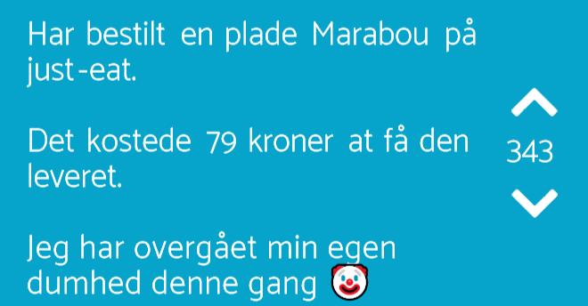 6dcb2bb1bf3f Har bestilt en plade Marabou... - Jodelgrin.dk