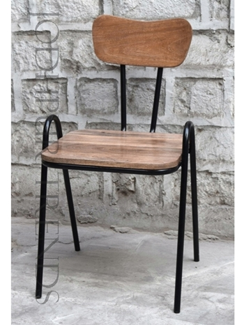Bistro Chair in Reclaimed Wood | Comfortable Restaurant Chairs