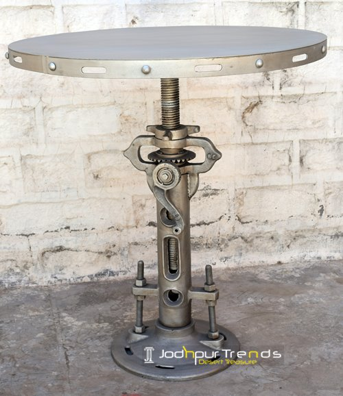 Adjustable Dining Table cum Bar Table | Vintage White Furniture