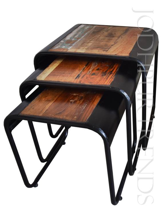Reclaimed Stool Set (Set of 3) | Industrial Furniture Manufacturer