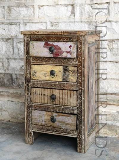 Nightstand in Reclaimed Wood | Antique Reproduction Furniture Suppliers