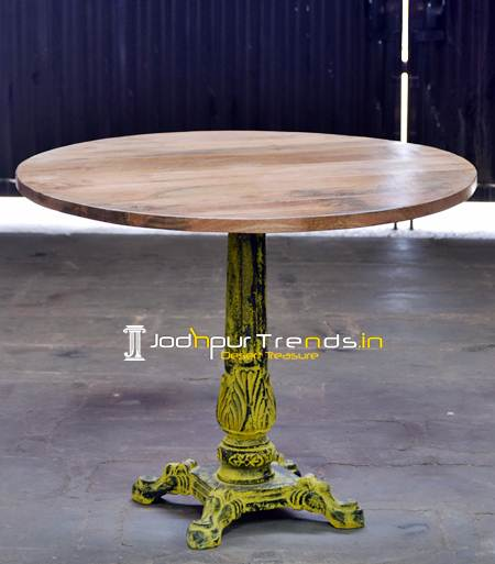 European Table, Cast Iron Table , Food Court Table,  Cafe Restaurant Furniture