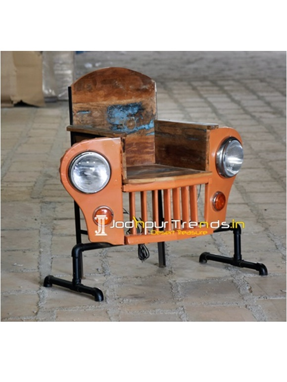 Maharaja Old Jeep Inspire Office Restaurant Chair