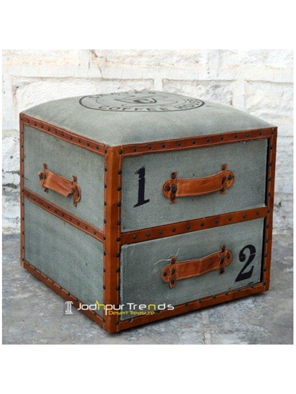 Mid-Century Modern Ottoman Storage Resort Box