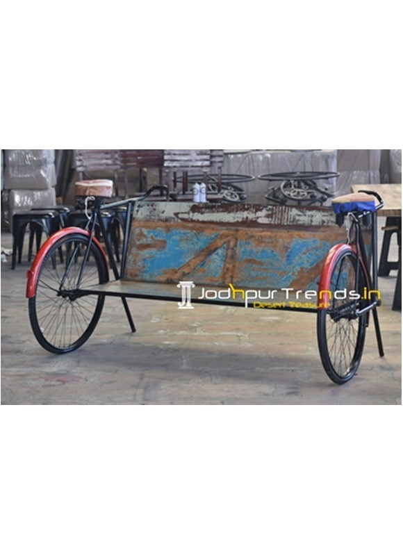 Old School Cycle Recycled Semi Outdoor Bench