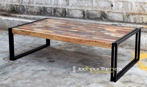 Artistic Reclaimed Wood Center Table Jodhpur Furniture