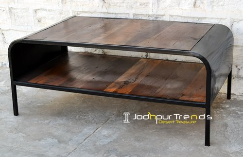 Reclaimed Industrial Center Table Furniture Design