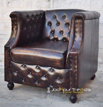 Imported Design Leather Single Sofa Manufacturer