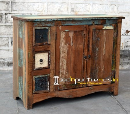 Old Antique Wood Cabinet Furniture