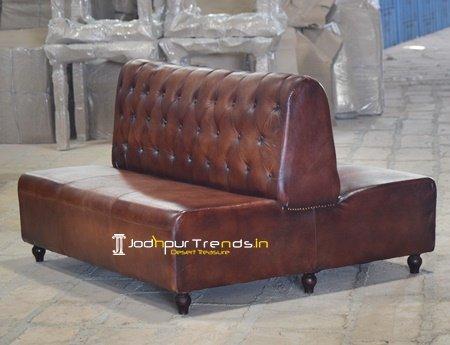 Duel Side Leather Restaurant Popular Sofa