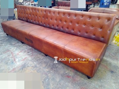 Modern Leather Chesterfield Long Sofa