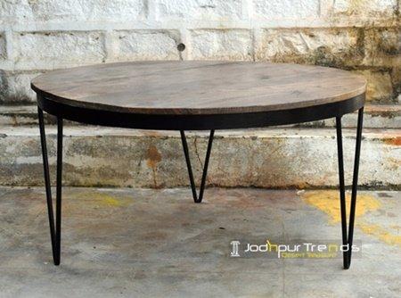 Solid Iron Mango Wood Modern Industrial Furniture