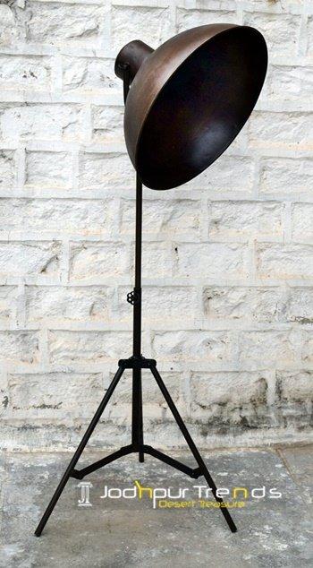 Dark Metal Finish Industrial Floor Lamp Furniture