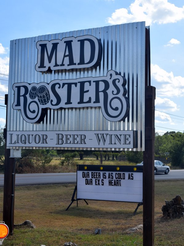 liquor store in wimberley mad rooster