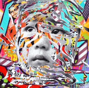CHINESE KID by Jo Di Bona 2015 80x80 technique mixte sur toile