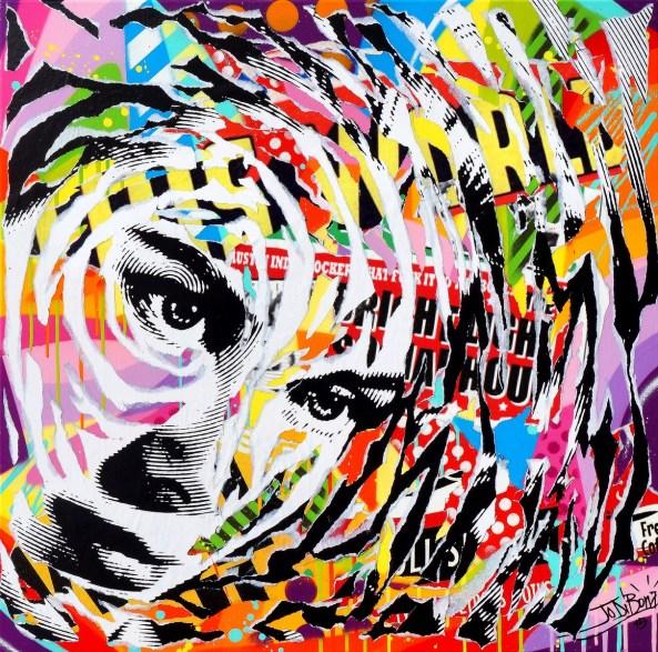 GRACE by Jo Di Bona 2015 80x80 technique mixte sur toile