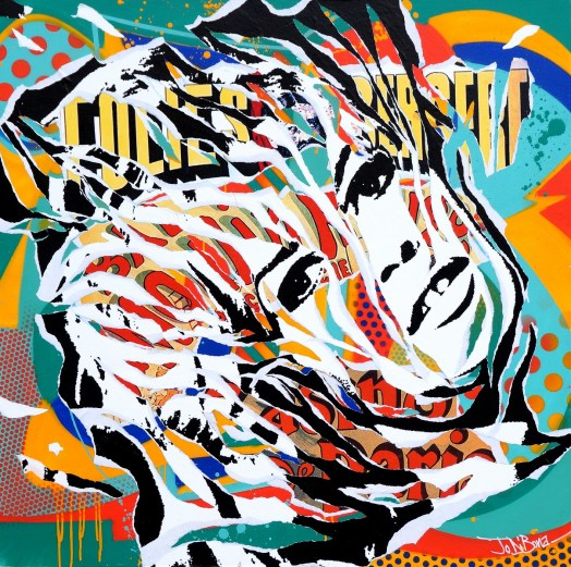 INITIALS BB by Jo Di Bona 2015 120x120 technique mixte sur toile