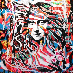 MONA LISA IS SO POP! by Jo Di Bona 2015 100x100 technique mixte sur toile