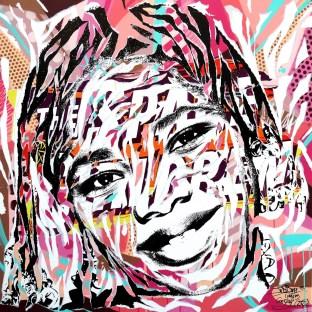 MY SUBURB IS SO POP 2 by Jo Di Bona 2015 120x120 technique mixte sur toile