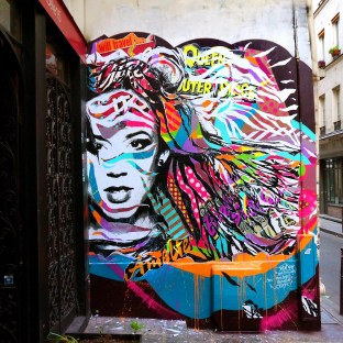 Mur réalisé pour l'émission Urban Safari à Radio Marais, Paris 3