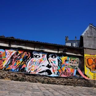 Mur réalisé pour le Parcours Aucwin, Saint-Denis