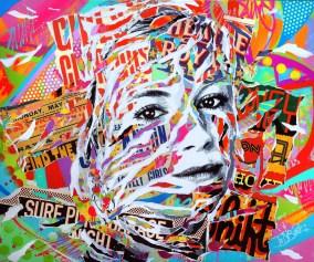 SIENNA IS SO POP! by Jo Di Bona 2015 120x100 technique mixte sur toile