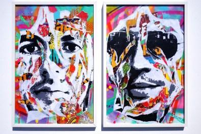 TWINS by Jo Di Bona 2015 40x50 technique mixte sur papier