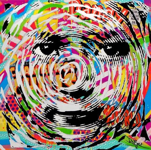 NEPALI KID 2 by Jo Di Bona 2016 80x80 technique mixte sur toile