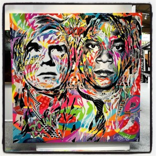 Festival Urban Art Fair, Andy & Basquiat, by Jo Di Bona, photo by Lezard_graphic
