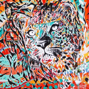 FAWN COAT by Jo Di Bona 2017 100x100 technique mixte sur toile