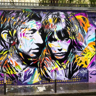 Mur maison de Serge GAINSBOURG by Jo Di Bona, photo by Alex Gallosi MARS 2017