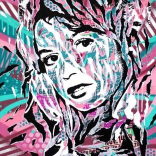 SHINY BB by Jo Di Bona 2017 50x70 technique mixte sur médium