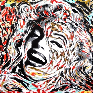 THE REAL MONROE by Jo Di Bona 2018 195x130 technique mixte sur toile