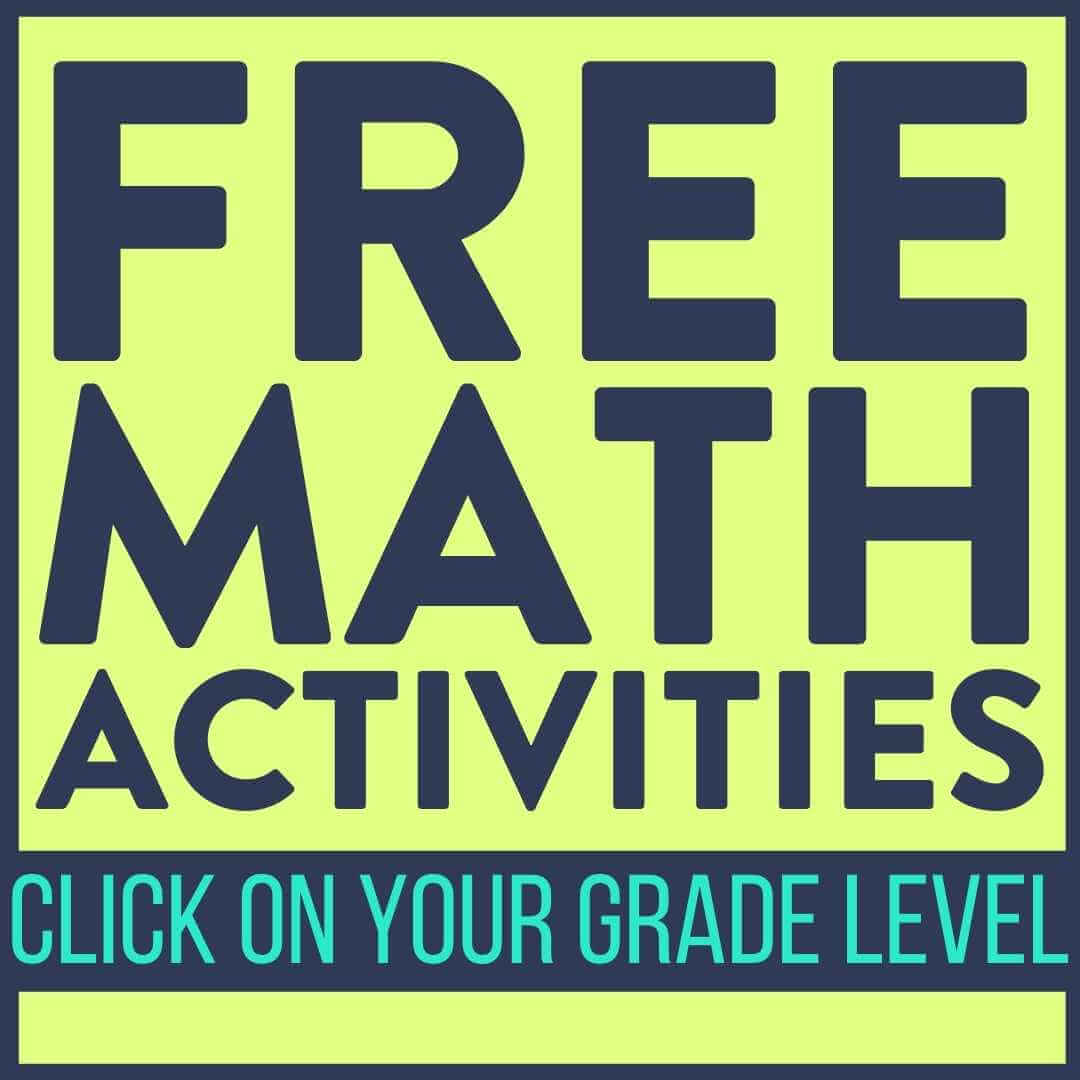 First Grade Math Activities